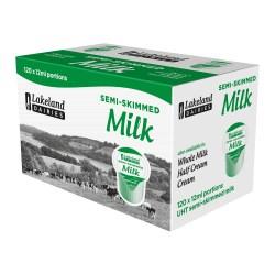 UHT Semi Skimmed Milk Portions (120 pots)