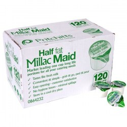 Millac Maid Half Fat Long Life Milk Pots (120)