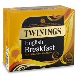 Twinings English Breakfast String & Tag Tea (100 bags)