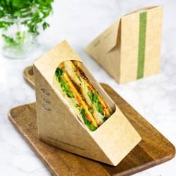 Vegware Compostable Kraft Sandwich Wedges 75mm (500)