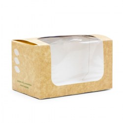 Vegware Compostable Bloomer Sandwich Kraft Carton (500)