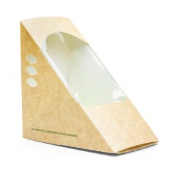 Vegware Compostable Kraft Sandwich Wedges 75mm (500)