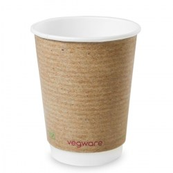 12oz Double Wall Compostable Vegware Kraft Cup (100)