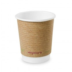 8oz Double Wall Compostable Vegware Kraft Cup (500)