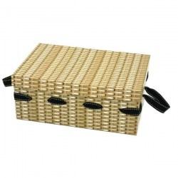 Wicker Effect Cardboard Hampers - Size 2