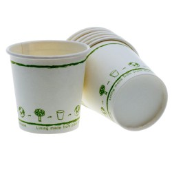4oz White Single Wall Biodegradable Cups (1000)