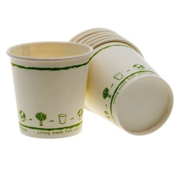 4oz White Single Wall Biodegradable Cups (100)