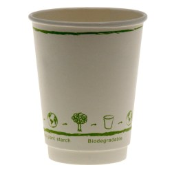 12oz White Single Wall Biodegradable Cups (100)