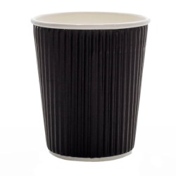 12oz Black Ripple Cups (100)