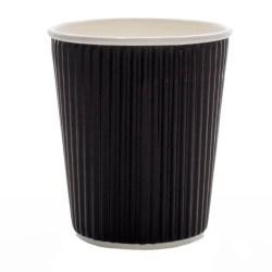 12oz Black Ripple Cups (100)