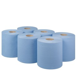 Blue Centrefeed Rolls 2ply (6 pack)