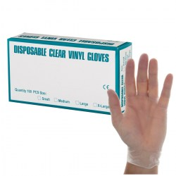 Blue Disposable Vinyl Gloves - Large (100)