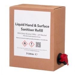 Liquid Hand & Surface Sanitiser Refill (3 Litres)