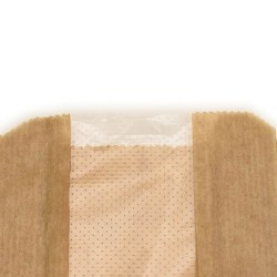 Compostable Kraft Baguette Bags With Perforated Window (1000)