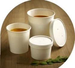 8oz Takeaway Soup Bowls & Lids
