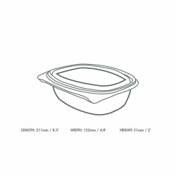 Vegware Compostable 8oz PLA Deli Container (300)