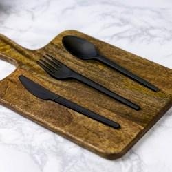 Vegware Compostable Black Plastic Fork (50)