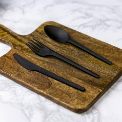Vegware Compostable Black Plastic Spoon (50)