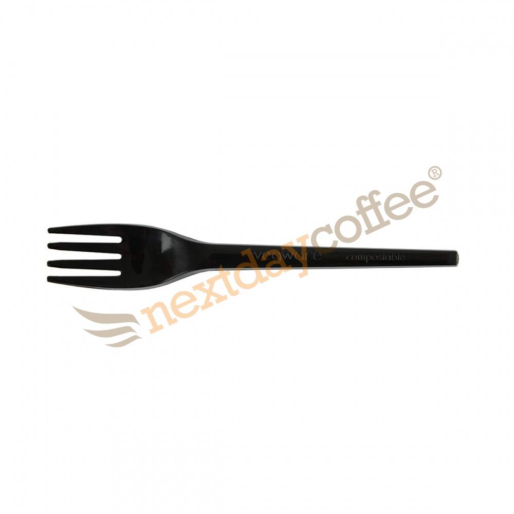 Vegware Compostable Black Plastic Fork (1000)
